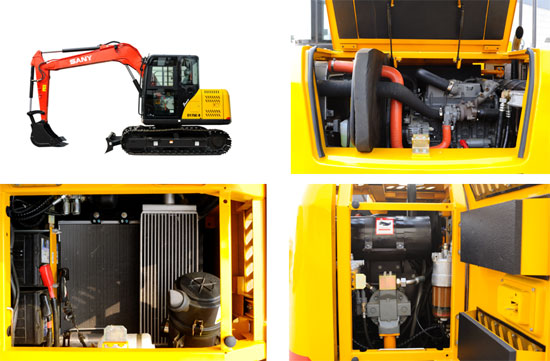 Steps of replacing the small digger's inner filter elements