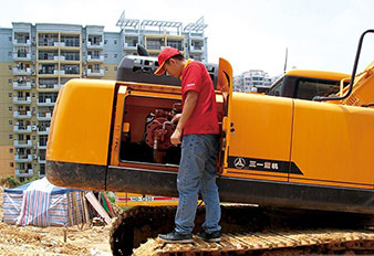 SANY Excavators maintenance on a daily basis