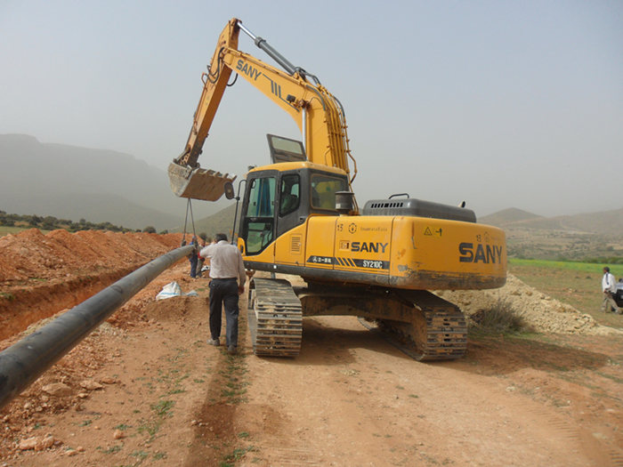 SANY SY210C-8 in a natural gas pipeline project.jpg