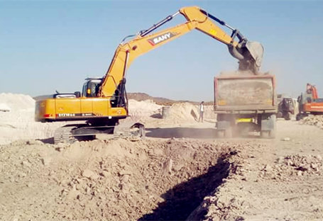 SANY excavator SY220C's super power in earthwork
