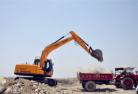 SANY medium-sized excavators used in quarry project