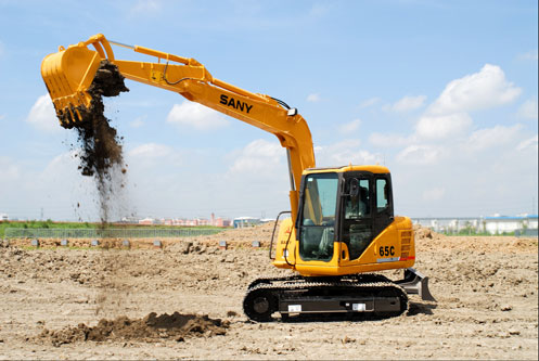 SANY excavators used in Jinji Lake construction project
