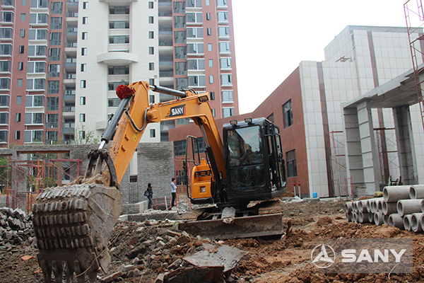 SANY SY50C small-sized excavators used in Wenzhou