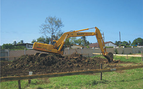 Sany Medium Excavator Used in Kenya