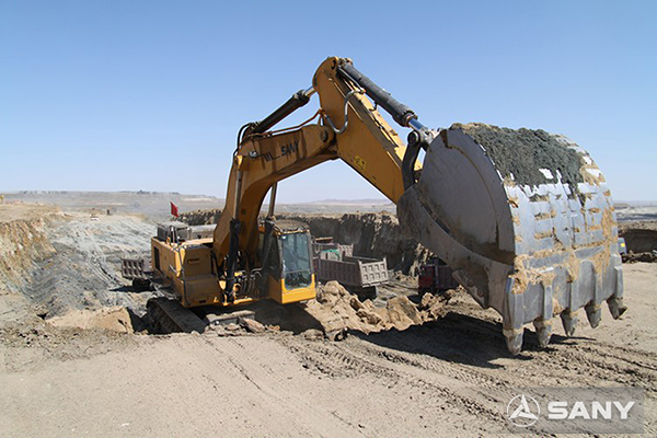 SANY excavators used in the project of Xilinhot City