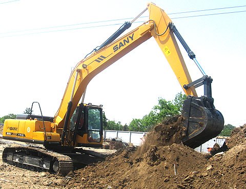 SANY SY235C excavators used in Beijing subway construction