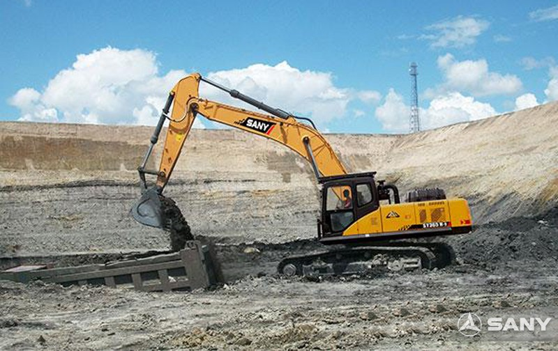 SANY SY365H-9 excavators used in projects of Turpan