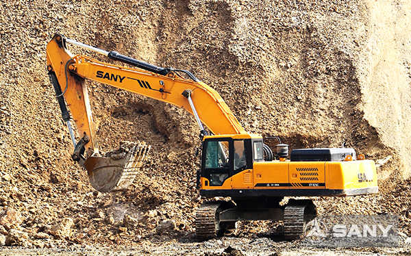 SANY SY365H large excavators used in copper mine in Zambia