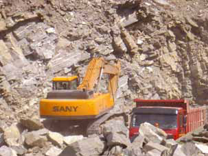 SANY excavator used in South Africa's mining