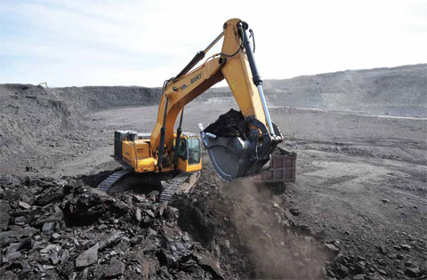 SANY excavator used in open coal mine in Xilinhot
