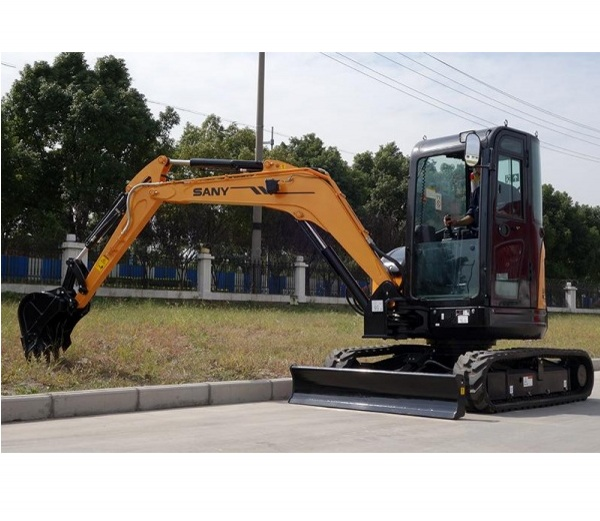 SANY 1.6 ton mini digger SY 16C excavator used in orchard reclamation in Brisbane, Australia