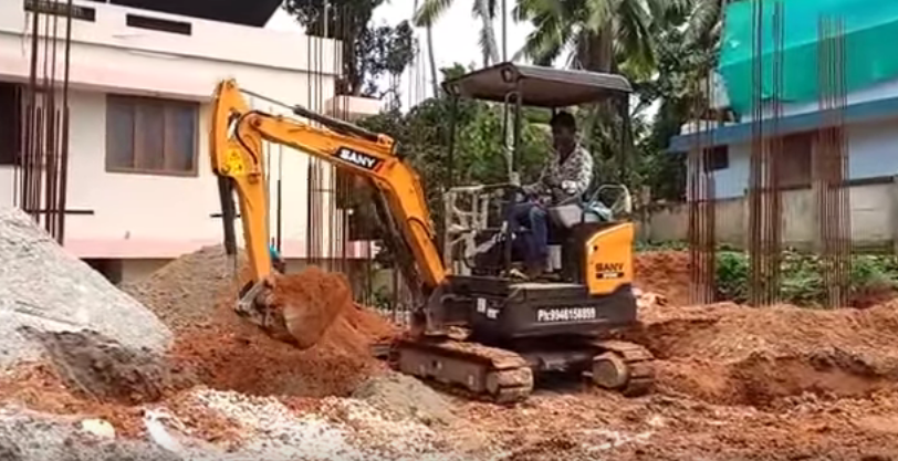SANY 1.6 ton SY16C mini excavator used in urban construction in Pakistan