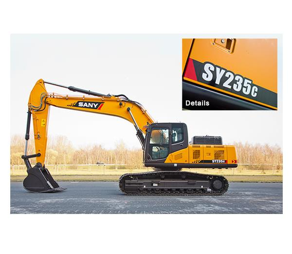 SANY 23.5 ton medium excavator SY235C used for excavation in Andrew Mining in South Africa
