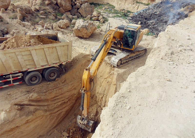SANY excavator used in a trenching project in Algeria.jpg