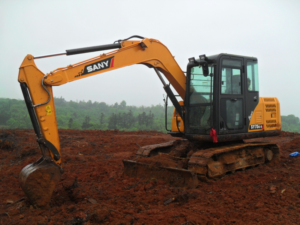 Guidelines for SANY Digger Machine Working in Rainy Days