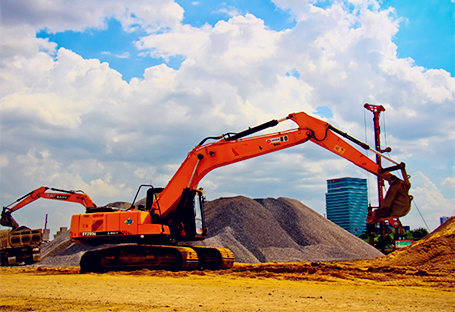 SANY excavators in Thailand Bangsue Railway Station Project