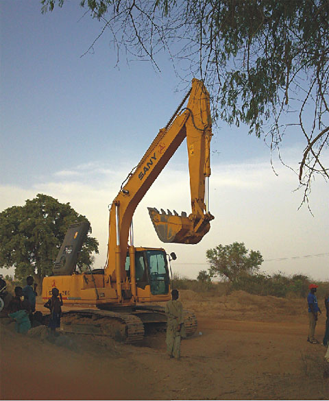 SANY excavators used in highway construction in Nigeria