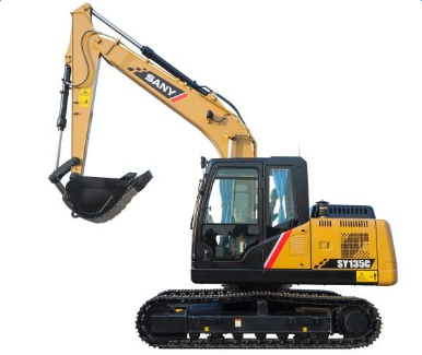 SANY SY135C excavators used in Wuxi's Yanqiao primary school