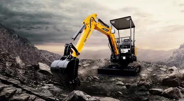 SANY mini digger SY35U excavator used in digging trench in Adelaide
