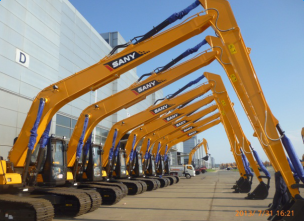 The large excavator of SANY SY465  have strengthen structure undercourage with higher reliability